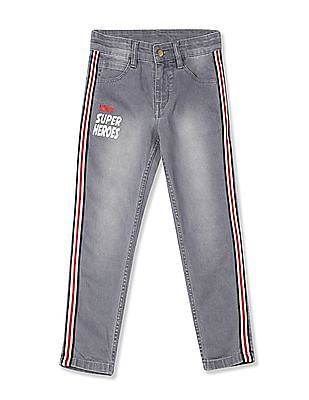 Colt Grey Boys Slim Fit Stone Wash Jeans