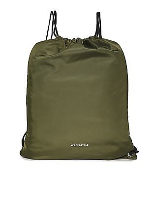 Aeropostale Solid Drawstring Backpack