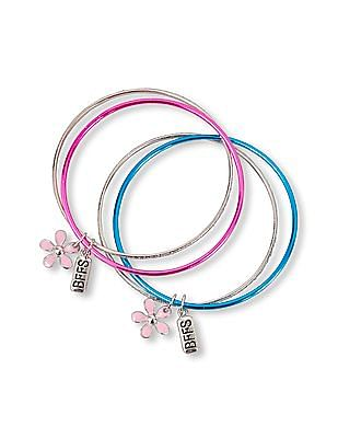 The Children's Place Girls BFFS And Flower Charm Bangle 2-Pack