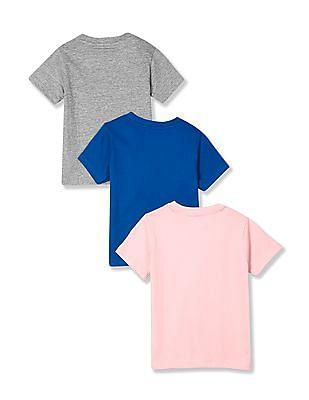 Cherokee Boys Crew Neck Printed T-Shirt - Pack Of 3