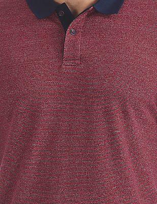 Arrow Sports Regular Fit Patterned Knit Polo Shirt