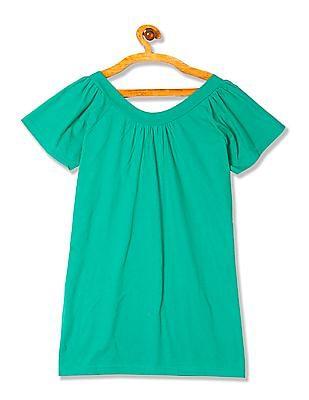 Flying Machine Women Raglan Sleeve Scoop Neck T-Shirt