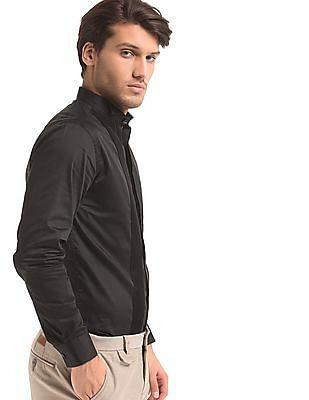 True Blue Slim Fit Pintuck Tuxedo Shirt