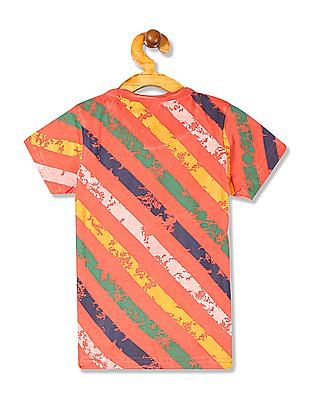 Cherokee Boys Printed Raw Edge T-Shirt