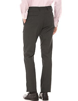 Arrow Houndstooth Weave Tapered Fit Trousers