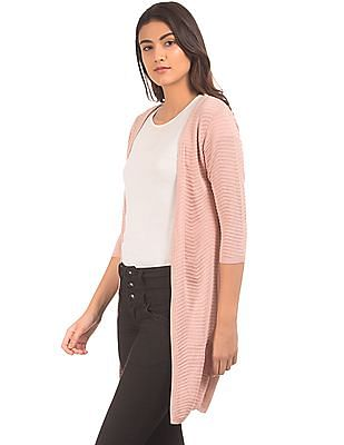 Arrow Woman Ribbed Knit Open Front Shrug