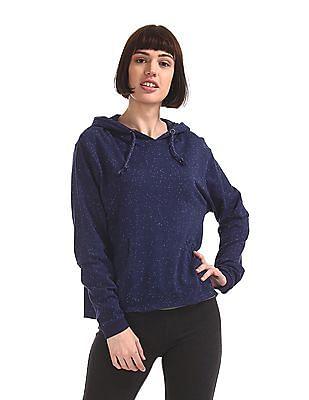 SUGR Blue Hooded Active Sweatshirt