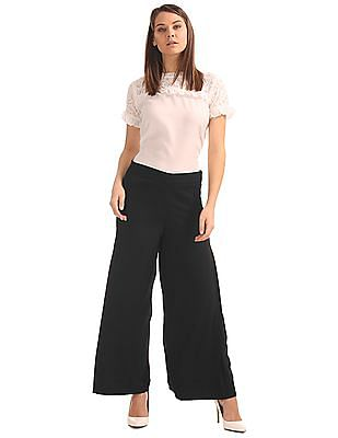 Cherokee Side Pleat Solid Palazzos