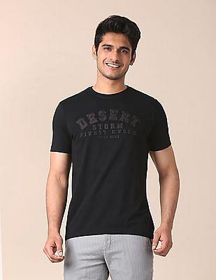 True Blue Slim Fit Embroidered Applique T-Shirt