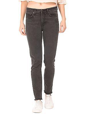Aeropostale Regular fit Fringe Hem Jeans