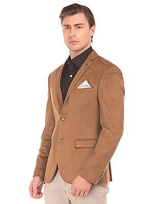 Arrow Suedette Slim Fit Blazer