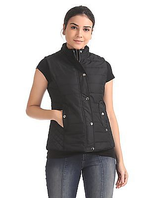 U.S. Polo Assn. Women Sleeveless Quilted Jacket