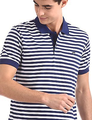 Ruggers Navy And White Horizontal Stripe Polo Shirt