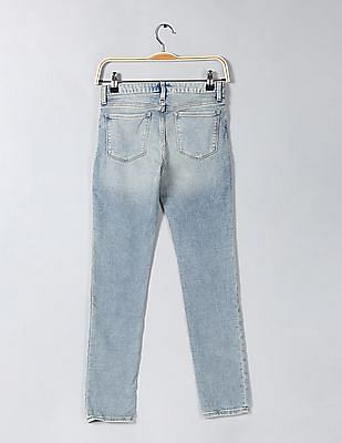 GAP Girls Super Skinny Fit Washed Jeans