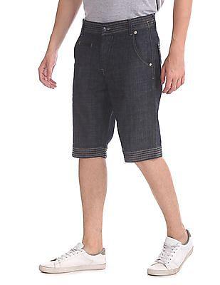 Flying Machine Slim Fit Denim Shorts