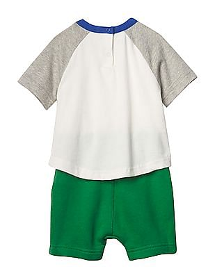 GAP Baby Multi Colour Double Layer Baseball Tee One Piece