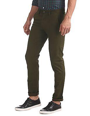 Arrow Sports Slim Fit Stretch Trousers