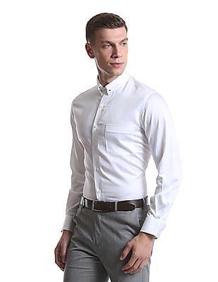 Arrow Long Sleeve Regular Fit Shirt With Collar Pin