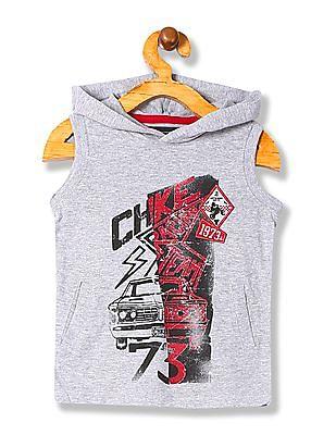 Cherokee Boys Printed Hooded T-Shirt