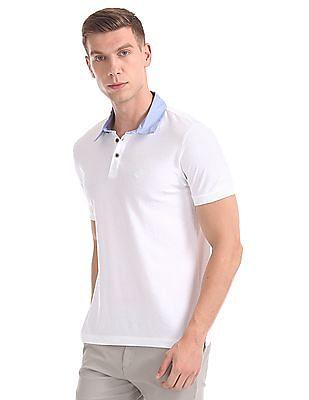 Arrow Sports Short Sleeve Textured Polo Shirt