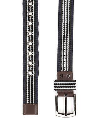 Colt Striped Panel Belt
