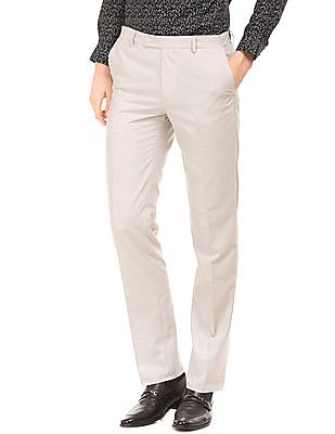 Arrow Textured Regular Fit Trousers