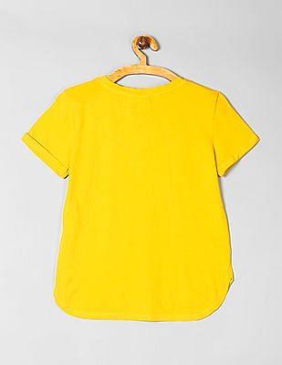 GAP Girls Yellow Flippy Sequin T-Shirt