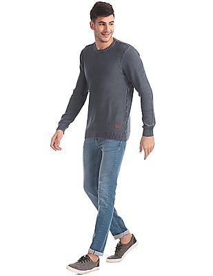 Flying Machine Slim Fit Washed Sweater