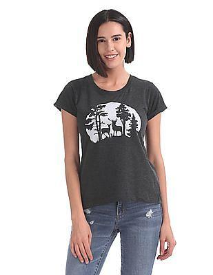 Cherokee Printed Short Sleeve T-Shirt