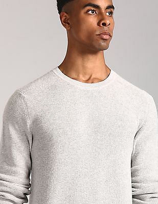 GAP Grey Waffle Crew Neck Sweater