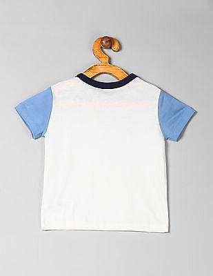 GAP Baby White Colorblock Logo T-Shirt
