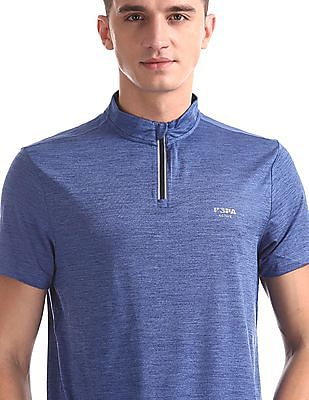 USPA Active Blue Heathered Active T-Shirt