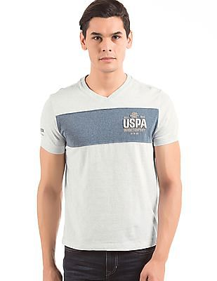 U.S. Polo Assn. Denim Co. Panelled Muscle Fit T-Shirt