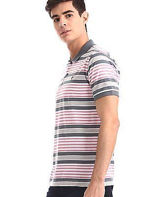 Ruggers Multi-colour Horizontal Stripe Cotton Polo Shirt