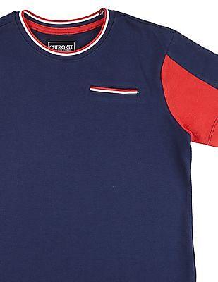 Cherokee Boys Mock Pocket Colour Block T-Shirt