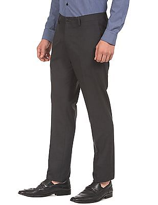 USPA Tailored Solid Super Slim Fit Trousers