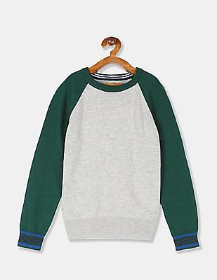 The Childrens Place Baby Boys Solid Crew Sweaters