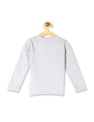 Cherokee Grey Boys Patch Pocket Slub T-Shirt