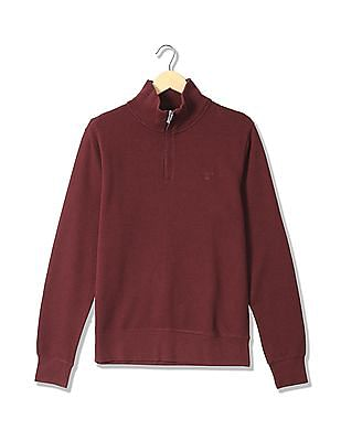 e1a91ae6d6 Buy Men O2. Sacker Rib Half Zip Sweater online at NNNOW.com