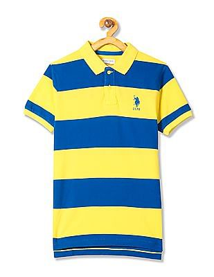 U.S. Polo Assn. Kids Boys Stripe Polo Shirt
