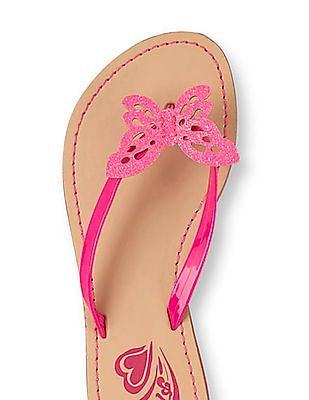 The Children's Place Girls Butterfly Candy Flip-Flops