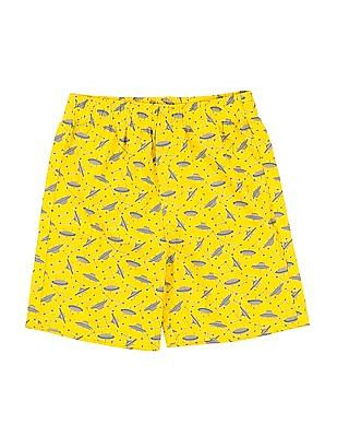 FM Boys Boys Printed Cotton Shorts