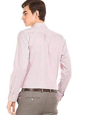 Arrow Striped French Placket Shirt