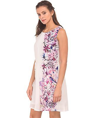 Cherokee Floral Printed Fit And Flare Dress