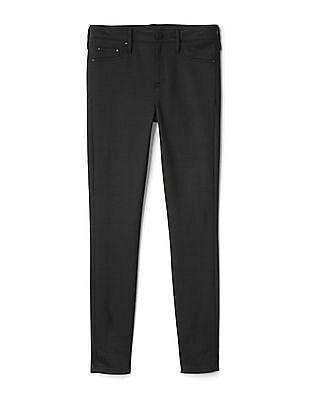 GAP Women Black Five Pocket Ponte Leggings