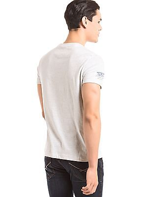 U.S. Polo Assn. Denim Co. Distressed Print Muscle Fit T-Shirt