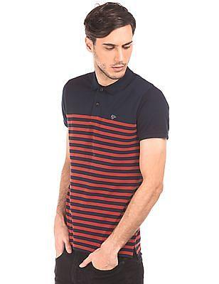 Ruggers Striped Cotton Pique Polo Shirt