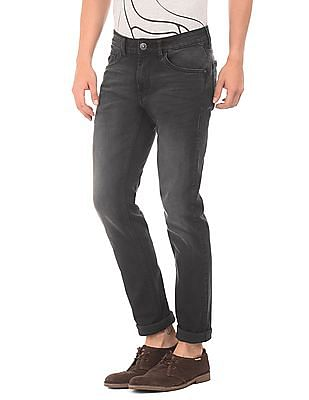 Flying Machine Low Rise Stone Wash Jeans