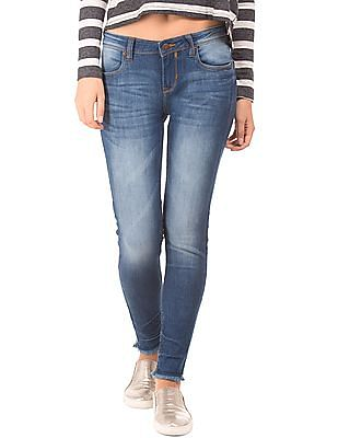 EdHardy Women Washed Super Skinny Fit Jeans