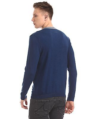 Cherokee Long Sleeve Mandarin Neck Sweater